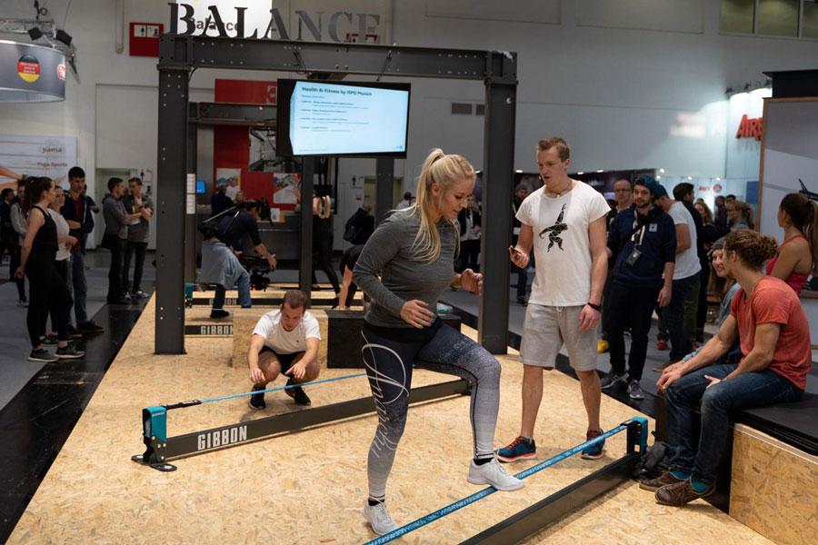 Marius Kitowski bei einem Fitness Workshop